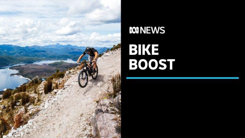 Mountain biking in a 'lunar landscape' as a mining town opens new trails | ABC News