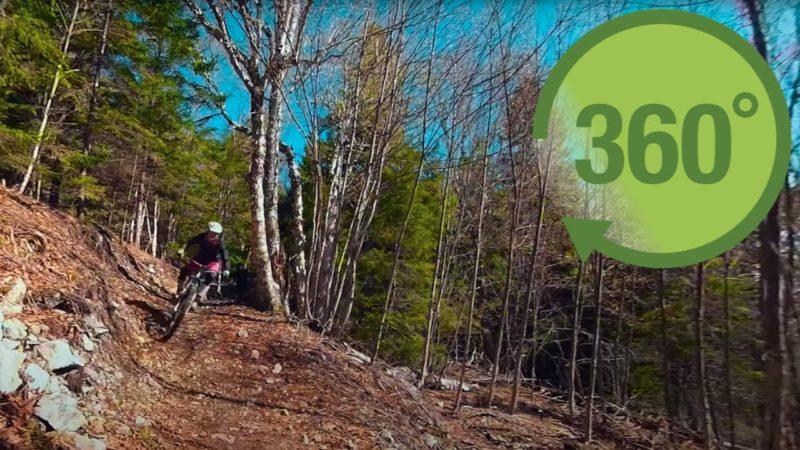 Mountain biking in Fundy in 360