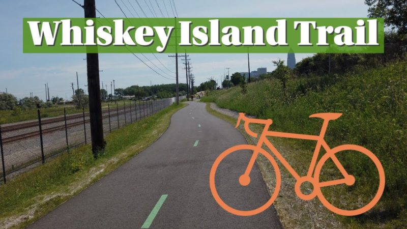 Biking the Whiskey Island Trail
