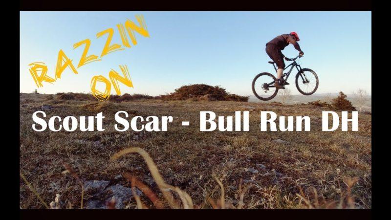 Razzin on Scout Scar Bull Run DH Lake District Mounting Biking