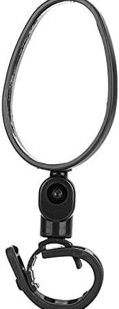 Specchietto per Bici Posteriore Durevole Ruota a 360° Manubrio Regolabile Retrovisore Strada Specchietto di Sicurezza per Bici da Montagna Dimensioni Ovale: 13 x 5,5 x 2 cm