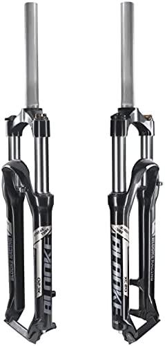 BLOOKE Bike Suspension Fork,26/27.5/29,Travel 100mm,Rebound Adjust Straight Tube 28.6mm QR 9mm,Manually Adjustable Damping Front Forks for Mountain Bike
