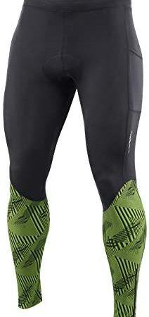 BALEAF Mannen Fietsen Broek 4D Gewatteerde Bike Lange Panty Fiets MTB Rijden Leggings Zakken UPF50+