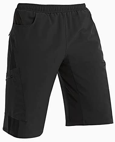 TOMSHOO Pantalones Cortos de Ciclismo Hombres Transpirable para Cómodo Adecuado para Ciclismo Correr MTB o Deportes al Aire Libre