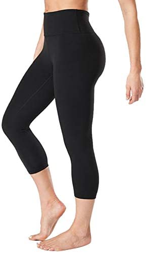 GAYHAY High Waisted Capri Leggings for Women – Soft Slim Tummy Control – Exercise Pants for Running Cycling Yoga Workout