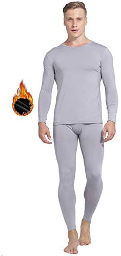 Yostylish Thermal Underwear for Men, Soft Long Johns Set with Fleece Lined, Warm Base Layer Top & Bottom