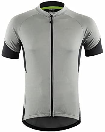 LY4U Herren-Radtrikot, Kurzarm-Fahrrad-Tops Leichtes, schnell trocknendes, atmungsaktives Mountainbike-MTB-Shirt Mountain Racing-Fahrrad-T-Shirt mit halben Ärmeln