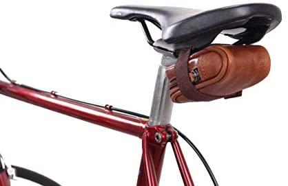 Gusti Borsa per Biciclette in Pelle – UDO B. Borsa a Tubo Borsa a Tracolla Vintage Accessori per Biciclette