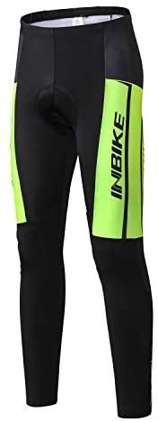 INBIKE Mens Fietsen Compressie Panty Broek Mens Mountainbike Broek Gewatteerde Fiets Cycle Leggings voor Mannen Ademend Elasticiteit Vrouwen