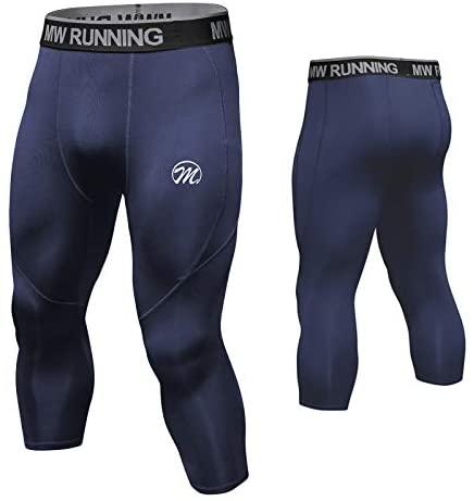 MEETWEE Legging Homme, Sport Collant Compression Pantalon avec Poches Long Running Calecons Cool Dry Base Layer pour Gym Jogging Cyclisme