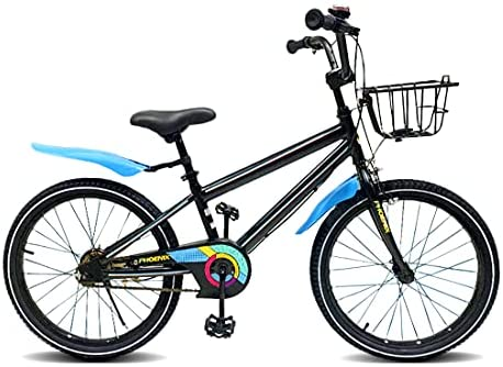 PHOENIX Kids Bike for Boys Girls 20 inch with Kickstand and Basket Youth Bicycle for Ages 8-12