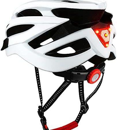 DesignSter Casco Bicicleta-Certificación CE y UKCA Unisex Adulto Unisexo Ajustable con Visera y Forro Desmontable Especializado para Ciclismo de Montaña Motocicleta