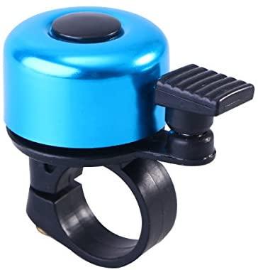 Aboofan, campanello per manubrio in lega di alluminio, per bici da strada, mountain bike, accessori per campana, colore: blu