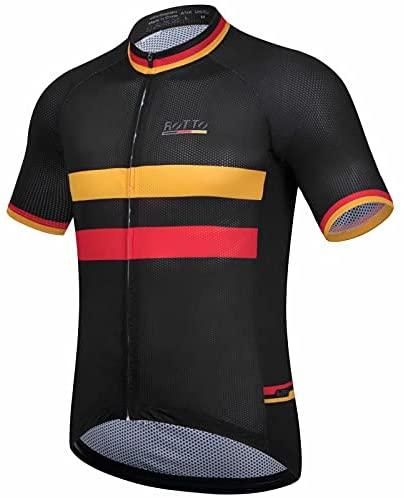 ROTTO Maglia Ciclismo Uomo Magliette Bici Maniche Corte Maglia MTB Serie Bandiere Nazionali