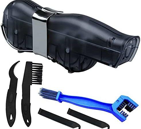 Kit limpiador de cadena de bicicleta, cepillo de limpieza para todo tipo de bicicletas y bicicletas de montaña