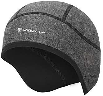 Winter Skull Cap, Cycling Hat Caps for Under Helmet Men Women with Windproof Thermal Fleece, Motorcycle Helmet Liner Cycle Cap Cover for Outdoor Sports Riding/Skiing/Running Grey