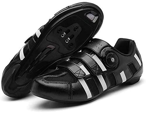 JINFAN Zapatillas De Ciclismo De Carretera Zapatillas De Ciclismo De Montaña MTB De Fondo Duro para Hombre Zapatillas De Ciclismo para Mujer Zapatillas Fuertes Ligeras De Ciclismo,Black-43