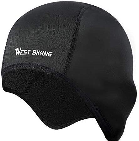 Muts voor heren en dames, helm-ondermuts, warme winddichte wintermuts, hoofddoek, ademende fiets-hoofdbedekking, fietsmuts voor fietsen, hardlopen, motorrijden, skiën (zwart, grijs)