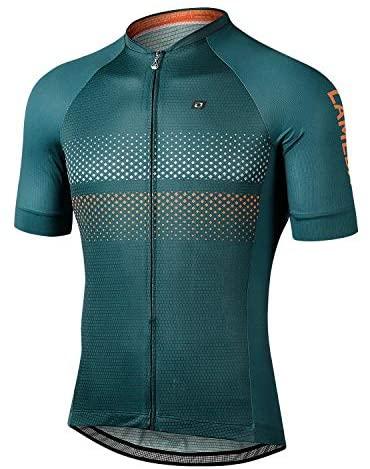 LAMEDA Kurzarm Radtrikot Herren Damen T-Shirt Atmungsaktiv Schnell Trocknen Hautfreundlich Material Funktionsshirt Jersey für Radsport Fitness Outdoor-Aktivitäten