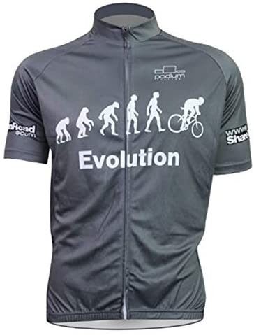 Cycling Jersey Evolution Men's Short Sleeve MTB Jersey Full Zip Moisture Wicking, Breathable Bicycle Tops