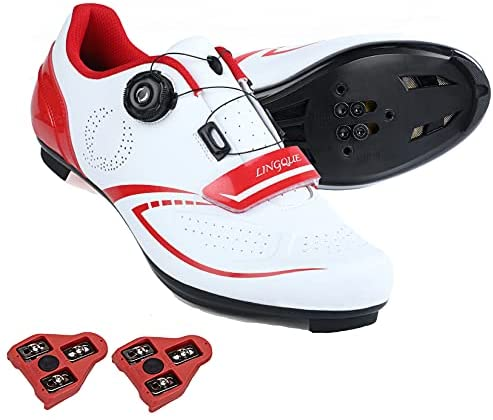 Cycling Shoes Compatible Indoor Peloton Bike Shoe with Delta Cleat Outdoor Clip in Road Bike Shoes for Men Women