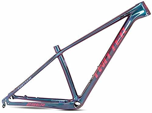 LJHBC Marco de Bicicleta Cuadro de Bicicleta de montaña de Fibra de Carbono Pintura cambiante a Todo Color Enrutamiento Interno Cuadro de Bicicleta de montaña Todoterreno (Size:29x17in)
