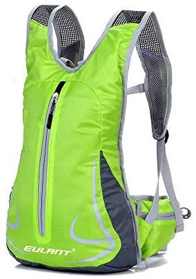 EULANT Aktualisierte Version Wasserdicht Laufrucksack, Kleiner Fahrradrucksack Reflektierend, Kleiner Sportrucksack für Skifahren Camping Trekking Bergsteigen Radfahren Joggen