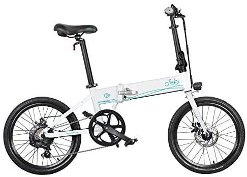 FIIDO D4S Bicicleta eléctrica plegable, 20 pulgadas, 80 km, aleación de aluminio, bicicleta eléctrica plegable, bicicleta de exterior, 25 km/h, 36 V, 10,4 Ah (blanco)