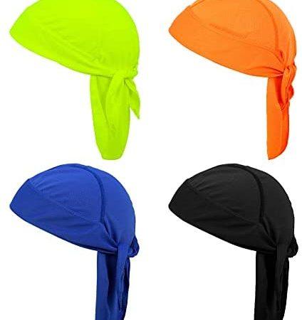 Bestomrogh 4 Bandanna Sports Rapidamente Asciutto Bandana Pirata Berretto Headwear Protezione UV Outdoor Berretto Sport Ciclismo cap Adjustable Foulard cap Portatile