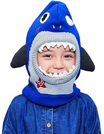 Gogokids Kind gebreide dieren hoed Kids Winter Beanie Cap – Baby Dunne Breien Hoed Kinderen Hoofddeksels Oorflappen Cap, 0-12 Jaar