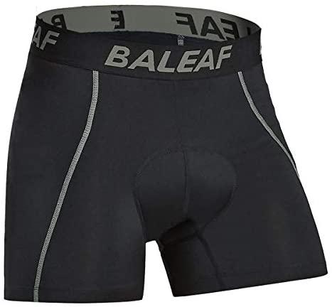 BALEAF Fietsondergoed voor heren, gevoerde fietsonderbroek, MTB-fietsbroek