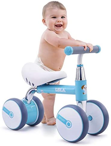 Baby Balance Bike Children Walker 10-36 Months Baby Bicycle No Padel Infant 4 Wheels Riding Toys for 1 Year Old Boys Girls