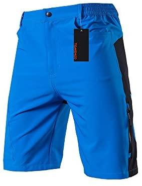 TOM SHOO Pantalones Cortos de MTB, Pantalones Cortos de Ciclismo para Hombre con Acolchados en 3D y 4 Bolsillos para Deporte al Aire Libre y Ciclismo