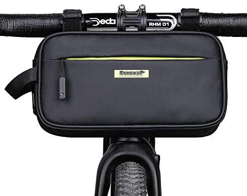 SHINYEVER Bolso para Manillar de la Bicicleta Bolsa de Cuadro Frontal de Bicicleta Bolsa de Tubo Bolsa de Cintura Multifuncional Bolsa de Pecho