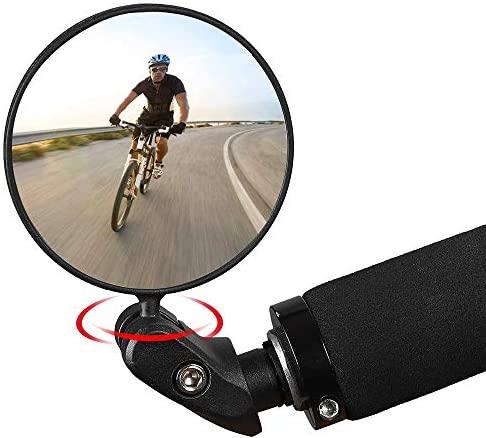 Faraone4w Specchietti Bici, Specchio Convesso Specchietto Retrovisore per Bicicletta 360 °Regolabile Specchio Rotante per Mountain Road Bike,Bici da Corsa