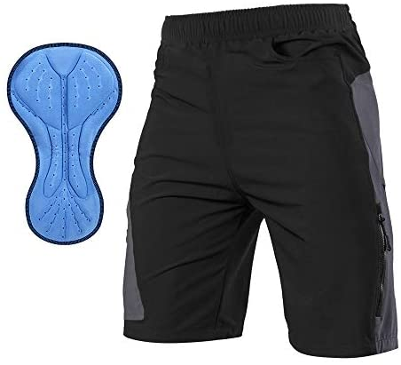 TOMSHOO Shorts de Cyclisme Hommes, 3D Rembourré Cuissard de Montagne Cyclisme Short VTT Vélo Sports Homme, Séchage Rapide Respirant Pantalon