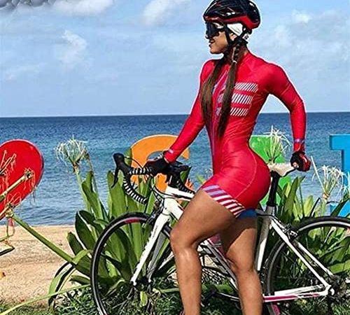 Dames lange mouw fietsen jersey stijl ademend triatlon fiets panty's *4* (Color : Style20-61, Size : X-Large)