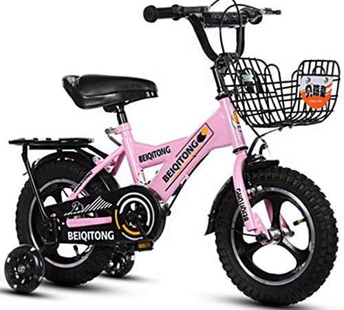 Bicicleta para Niños 12″14″ 16″18 Pulgadas para Niños Y Niñas De 2 A 12 Años Bicicleta BMX con Bomba, Campana, Equipo De Protección De 6 Piezas
