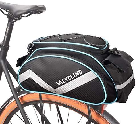 VERTAST Borsa Posteriore Bici – per rastrelliera Portapacchi da Bici, Impermeabile Portapacchi Bagagli Borse Multi Funzione Borsa per Il Viaggio in Bicicletta