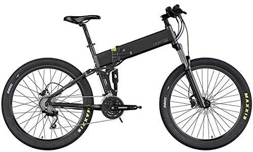 Legend EBIKES ETNA | Bicicleta eléctrica de montaña Plegable con Ruedas de 27.5″, Doble Suspensión, Batería Litio, Motor 250W, Adultos Unisex