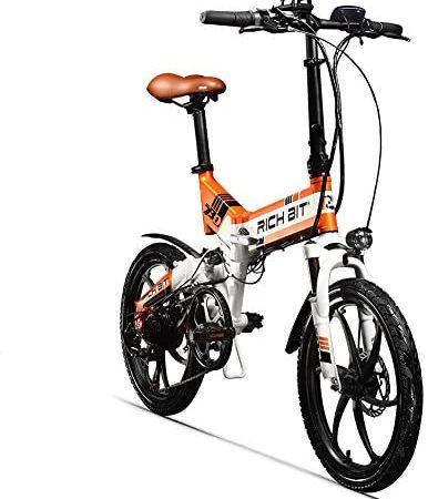cysum TOP730 20 Pulgadas Bicicleta eléctrica Plegable para Adultos, 48V 8Ah Batería Citybikes, 25 km/h Shimano 7 Speeds MTB de Doble suspensión ebikes…