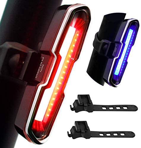 DONPEREGRINO 110 Lumens Feu Arrière Vélo Puissant, Lampe Vélo LED Rechargeable USB avec 5 Modes Fixe/Flash