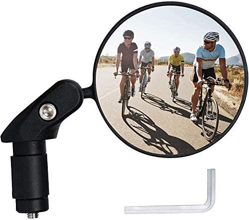 Specchietti Bici, Specchio Convesso, 360° Regolabile Ruotabile Specchietto Retrovisore for Bicicletta/Bici elettrica/Scooter/Motorino (1pc)