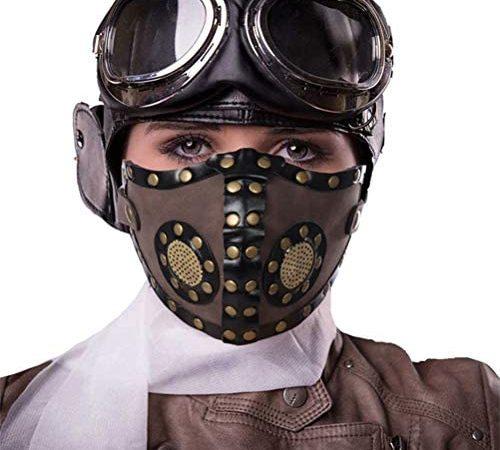 Amiispe Halloween accessoires voor gezicht punk hoofddeksel voor motorfiets fiets ski Halloween