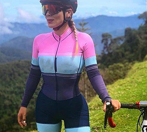 Dames lange mouw fietsen jersey stijl ademend triatlon fiets panty's *4* (Color : Style20-58, Size : XXX-Large)