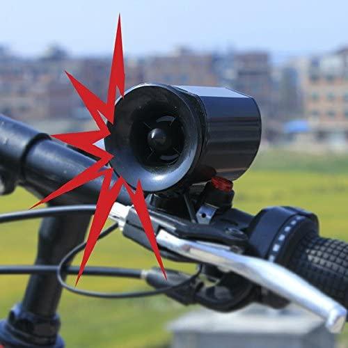 XeonZone Klaxon Vélo, Ultra-Bruyant Sonnette De Vélo Cloche De Vélo Alarme Forte Velo Bicyclette Cyclisme Electroniques Sonores Siren Corne Avertisseur 6-Sons