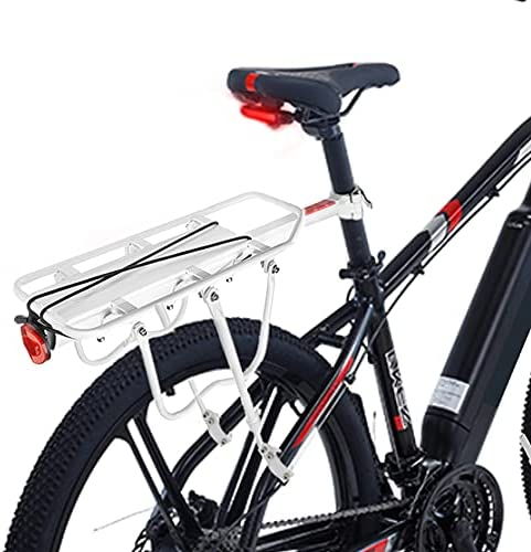ENEX Bike Rear Rack, Bicycle Rear Back Seat Luggage Rack Holder Carrier for Panniers Bags, Luggage, Cargo, 50kg Load, Aluminum Alloy Adjustable with Reflector for Cycling Camping Touring Sport