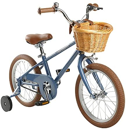 Retrospec Childrens-Bicycles Retrospec Beaumont Mini 16 Inch Kids Bike for 4-6 Year-olds with Training Wheels, Basket and Bell
