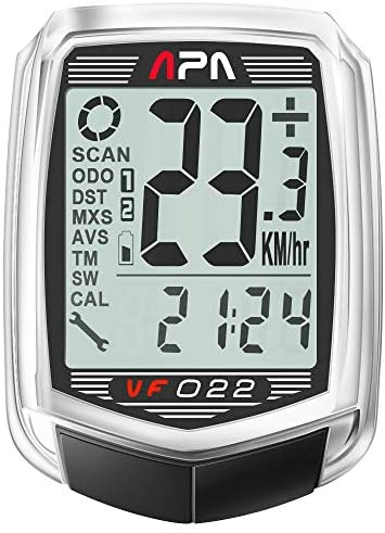 Dream Sport Bicycle Speedometer Odometer 22-Function Wired Bike Computer BMI Fitness Calorie and Body Fat Burnt DCY022