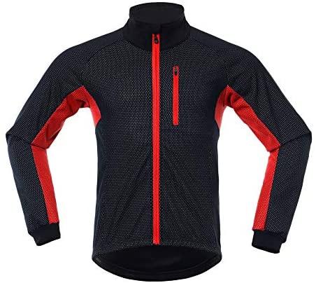 LY4U Chaqueta de ciclismo para hombre, resistente al viento, manga larga, forro polar, térmica, transpirable, deportiva, para montar a caballo, correr